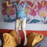 Our new house makes us want to jump for joy (although this photo wasn't taken in our new house...)