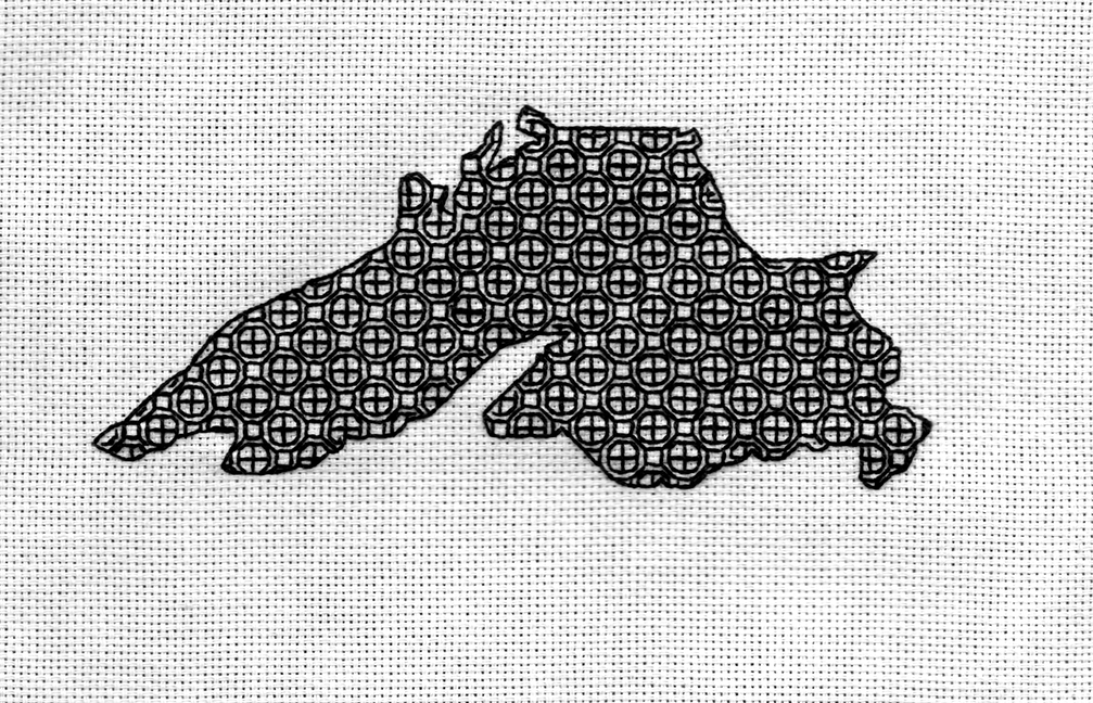 Lake Superior Blackwork Series--Crosses