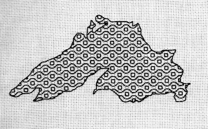 Lake Superior Blackwork Series--Waves