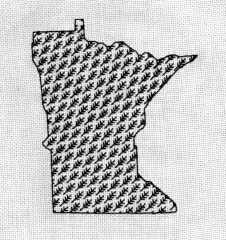 Minnesota Blackwork Series--Grass