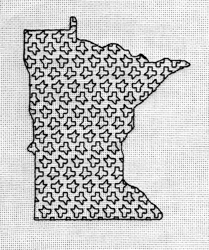 Minnesota Blackwork Series--Teeth