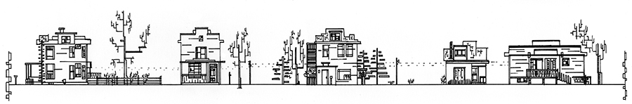 1700 Block Jefferson, South Ink 17 x 3 inches Available