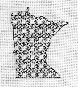 "Blackwork embroidery--4"" x 5"""