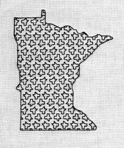 "Blackwork embroidery--4"" x 5"""